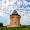 Tower and wall of the kremlin veseluha smolensk Royalty Free Stock Photo