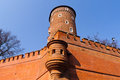 Tower of Wawel castle, Krakow Royalty Free Stock Images