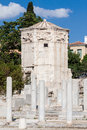 Tower of the winds athens greece horologion octagonal pentelic marble clocktower on roman agora in Royalty Free Stock Images