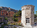 Tower of the Winds, Plaka, Athens, Greece Royalty Free Stock Photo