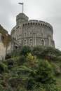 The tower of windsor palace this is shot on a cloudy day Royalty Free Stock Photos