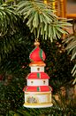 Tower xmas tree christmas with handmade Royalty Free Stock Photography