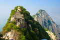 The towering north peak huashan xian image taken in china s shanxi province city scenic spot time is in at beginning of may Royalty Free Stock Image