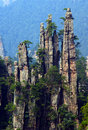 The towering stone zhangjiajie national geological parks in china Stock Photos