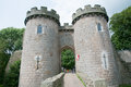 Towers of the castle whittington in shropshire in england Stock Photography