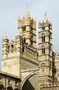 Towers of the Cathedral of Palermo Royalty Free Stock Images
