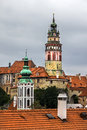 Towers of Cesky Krumlov, Czech Republic. Stock Image