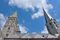 Towers of a church the st james in the belgian city ghent Stock Images