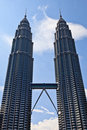 Towers in the city Kuala Lumpur Royalty Free Stock Image