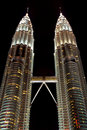 Towers in the city Kuala Lumpur Royalty Free Stock Images