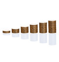 Towers of coins Stock Photos