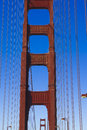 Towers of the golden gate bridge san francisco in usa Stock Photos