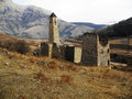 Towers of ingushetia ancient architecture and ruins a Royalty Free Stock Photo