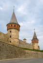 Towers of kamianets podilskyi castle ukraine Royalty Free Stock Image