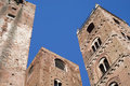 Towers old town albenga liguria italy Stock Photography