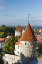 Towers of the Old Town of Tallinn, Estonia Royalty Free Stock Photography