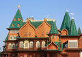 Towers of the Palace of Tsar Alexei Mikhailovich Royalty Free Stock Photo