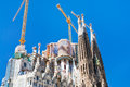 Towers of Sagrada Familia basilica in Barcelona Stock Photography