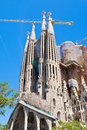 Towers of Sagrada Familia basilica in Barcelona Stock Images