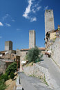 Towers of san gimignano famous tuscany italy Royalty Free Stock Image