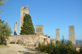 Towers of san gimignano the a small tuscan town in italy Stock Photo