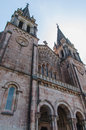 Towers of sanctuary of covadonga in asturias spain Royalty Free Stock Photo