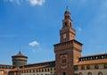 Towers of Sforza Castle (XV c.). Milan, Italy Royalty Free Stock Photo