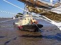 Towing ship