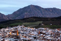 Town antequera andalusia spain old of at dusk Royalty Free Stock Photo