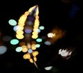 Town bokeh background city lights in the background with blurring spots of light Royalty Free Stock Photos
