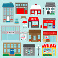 Town Buildings Clipart