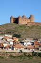 Town and Castle, Lacalahorra, Spain. Royalty Free Stock Image