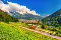 The town Chur and Swiss Alps, Switzerland. Royalty Free Stock Photo