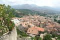 The town of corte on corsica island france Royalty Free Stock Images