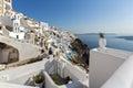 Town of fira santorini tira island cyclades greece Stock Photo