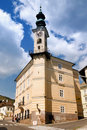 Town hall in Banska Stiavnica Royalty Free Stock Images