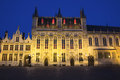 The Town Hall in Bruges at night (Belgium) Royalty Free Stock Photo