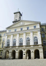 Town hall building in lvov city ukraine built Royalty Free Stock Photography