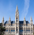 Town hall building in wien rathaus the Royalty Free Stock Photography