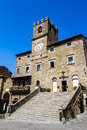The town hall in Cortona, Tuscan , Italy Royalty Free Stock Photo