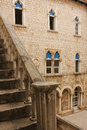 Town hall courtyard. Trogir.  Croatia Royalty Free Stock Photo