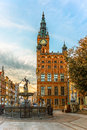 Town hall in gdansk poland the long market is one of the most notable tourist attractions of the city Royalty Free Stock Photo