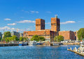 Town Hall and harbour, Oslo. Norway, Europe Royalty Free Stock Photo