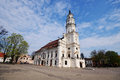 Town hall of kaunas in town hall square at the heart the old lithuania Royalty Free Stock Photo