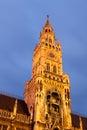 Town hall at the Marienplatz in Munich Stock Photo