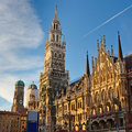 Town Hall in Munich Royalty Free Stock Images