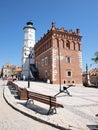 Town hall, Sandomierz, Poland Stock Images