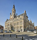 Town hall of shaerbeek brussels belgium march on march in Royalty Free Stock Photo