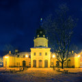 Town Hall in Siedlce, Poland at night Royalty Free Stock Photo