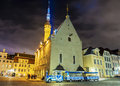 Town Hall Square in Tallinn, Estonia Royalty Free Stock Photo